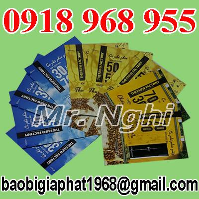 In túi giấy ghép màng nhôm đựng cafe| congtyinbaobigiay.com