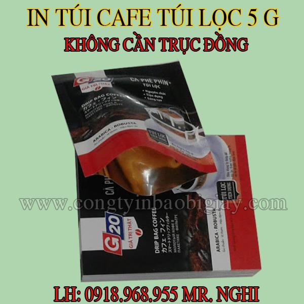 In túi đựng cafe túi lọc 5 gram G20| congtybaobigiay.com