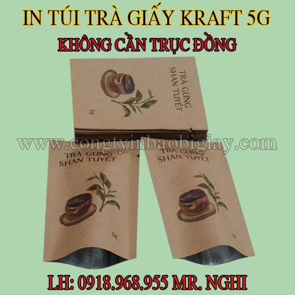 In túi giấy kraft đựng trà| congtybaobigiay.com